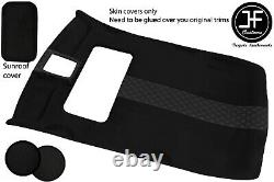 Black Diamond Stitch Sun Roof Headlining Luxe Suede Cover For Vw Golf Mk4 5 Dr