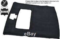 Black Stich Roof Headlining Liner Luxe Suede Cover For Ford Sierra Cosworth 3 Dr