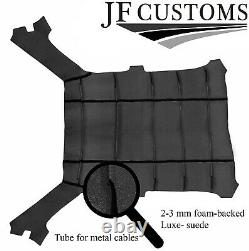 Black Stitch Luxe Suede Headliner Cover For Bmw E30 81-92 Coupe