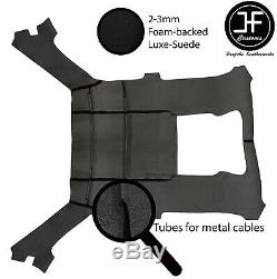 Black Stitch Luxe Suede Headliner Headlining Roof Cover For Bmw E30 81-92 Coupe