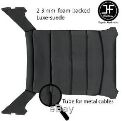 Black Stitch Luxe Suede Headliner Non Sun Roof Cover For Bmw E30 81-92 Saloon