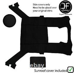 Black Stitch Luxe Suede Headliner Sun Roof Cover For Bmw E30 81-92 Coupe