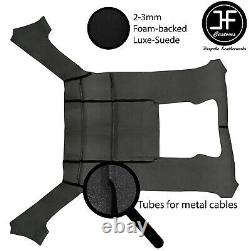 Black Stitch Luxe Suede Headliner Sun Roof Cover For Bmw E30 81-92 Saloon