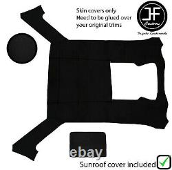 Black Stitch Luxe Suede Headliner Sun Roof Cover For Bmw E30 81-92 Sedan