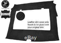 Black Stitch Roof Headlining Liner Real Leather Cover For Porsche 944 1986-1991