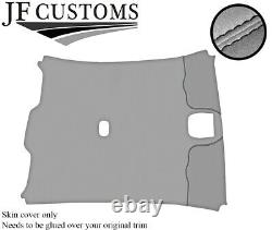 Black Stitch Roof Lining Headlining Light Grey Luxe Cover For Jaguar X-type