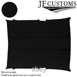 Black Stitch Suede Roof Headliner Cover For Vw Amarok 10-20 Double Cab