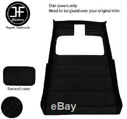 Black Stitch Sun Roof Headlining Luxe Suede Cover For Vw Golf Mk2 83-92 3 Door