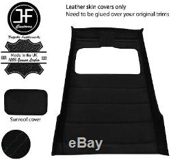 Black Stitch Sun Roof Headlining Luxe Suede Cover For Vw Golf Mk2 83-92 5 Door