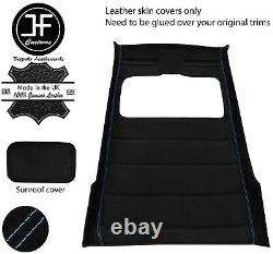 Blue Stitch Sun Roof Headlining Luxe Suede Cover For Vw Golf Mk2 83-92 5 Door