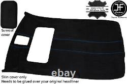 Blue Stitch Sun Roof Headlining Luxe Suede Cover For Vw Golf Mk4 98-05 5 Door