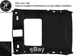 Green Stitch Sunroof Roof Headlining Luxe Suede Cover For Bmw 3 E36 92-98 Coupe