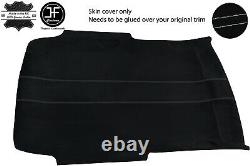 Grey Stitch Roof Headlining Luxe Suede Cover For Vw Jetta Mk4 98-05 3 Door Jf1