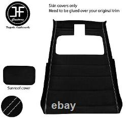 Grey Stitch Sun Roof Headlining Luxe Suede Cover For Vw Golf Mk2 83-92 3 Door