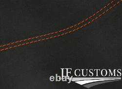 Orange Stitch Front Roof Headlining Dark Grey Luxe Cover For Vw T4 Transporter