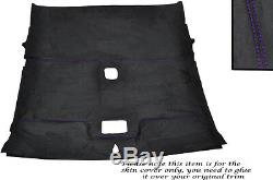 Purple Stitch Roof Lining Headlining Luxe Suede Skin Cover For Nissan 200 Sx S14