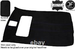 Purple Stitch Sun Roof Headlining Luxe Suede Cover For Vw Golf Mk4 98-05 5 Door