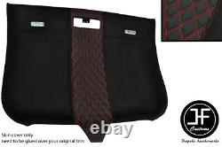 Red Diamond Stitching Roof Headlining Luxe Suede Cover For Audi Tt Mk2 06-14