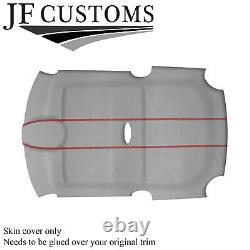 Red Stitch L Grey Suede Roof Headliner Cover For Bmw Mini R50 R53 01-06