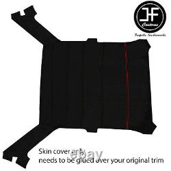 Red Stitch Luxe Suede Headliner Non Sun Roof Cover For Bmw E30 81-92 Sedan
