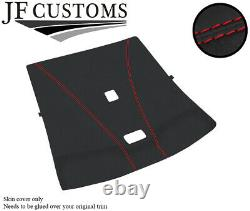 Red Stitch Roof Headlining Liner Dark Grey Luxe Cover For Nissan Skyline R33
