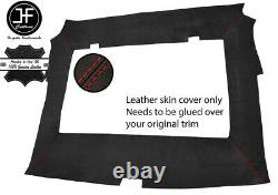 Red Stitch Roof Headlining Liner Real Leather Cover For Porsche 944 1986-1991