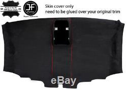 Red Stitch Roof Headlining Pu Suede Cover For Vw T6 Transporter Van 16-19 Jf1
