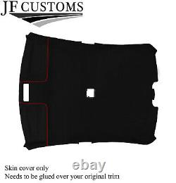 Red Stitch Roof Lining Headlining Luxe Suede Cover For Bmw E46 99-05 Sedan