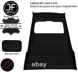 Red Stitch Sun Roof Headlining Luxe Suede Cover For Vw Golf Mk2 83-92 5 Door