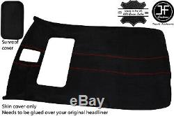 Red Stitch Sun Roof Headlining Luxe Suede Cover For Vw Jetta Mk4 98-05 5 Door