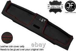 Red Stitch Top Roof Headliner Panel Leather Cover For Bmw E30 81-92 Sedan