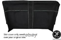 White Stitch Front Roof Headlining Luxe Suede Cover For Land Rover Defender 90