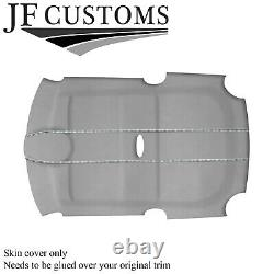 White Stitch L Grey Suede Roof Headliner Cover For Bmw Mini R50 R53 01-06