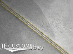 Yellow Stitch L Grey Suede Sun Roof Headliner Cover For Bmw Mini R50 R53 01-06